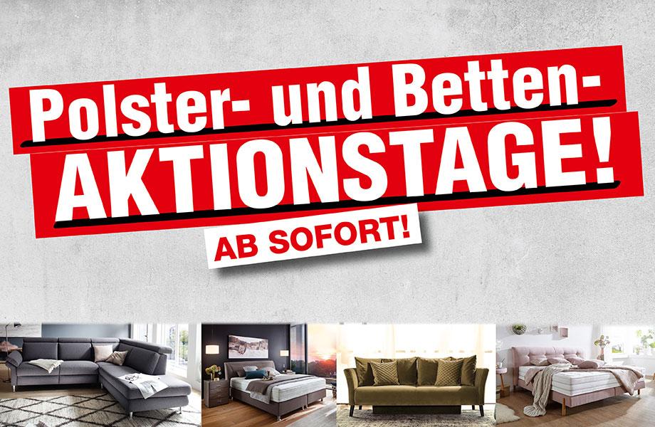 Banner Polster-und-Betten-Aktionstage • Möbel Kemper